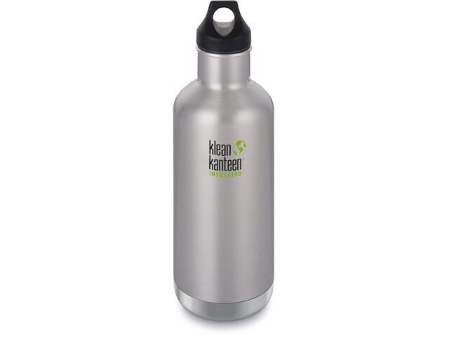 Klean Kanteen Classic Vacuum Insulated Bottle Loop Cap 946ml, brushed stainless